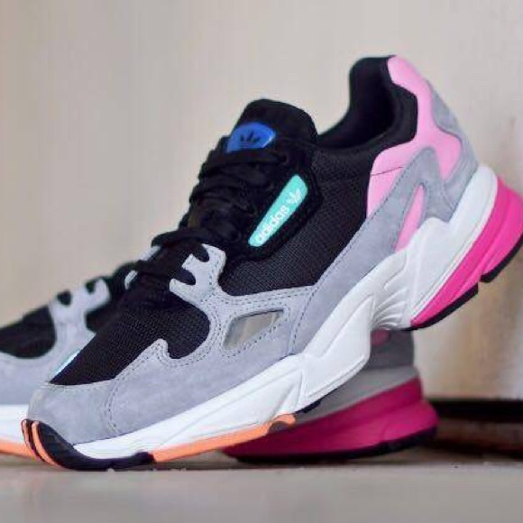 c2aace15e Adidas Falcon Women Black Grey Pink BB9173 Size 6